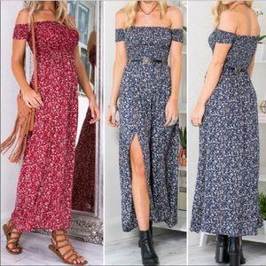 Dresses & Skirts - Vintage bohemian floral summer dress (s/m)